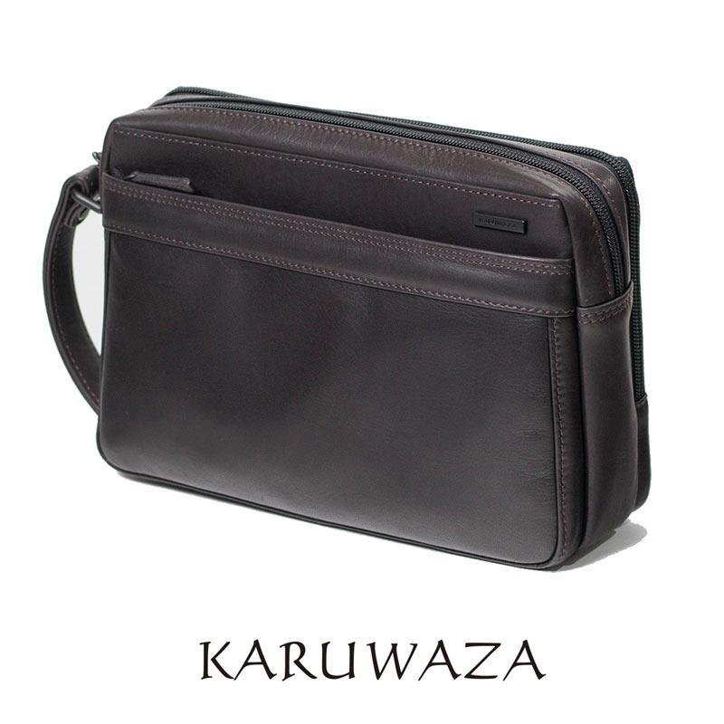 セカンドバッグ 018262 KARUWAZA 軽業 カルワザ 26cm サイドハンドル