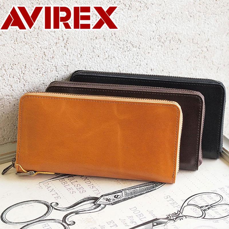 長財布 財布 AVX1806 アビレックス アヴィレックス AVIREX ラウンドファスナー BEIDE バイド
