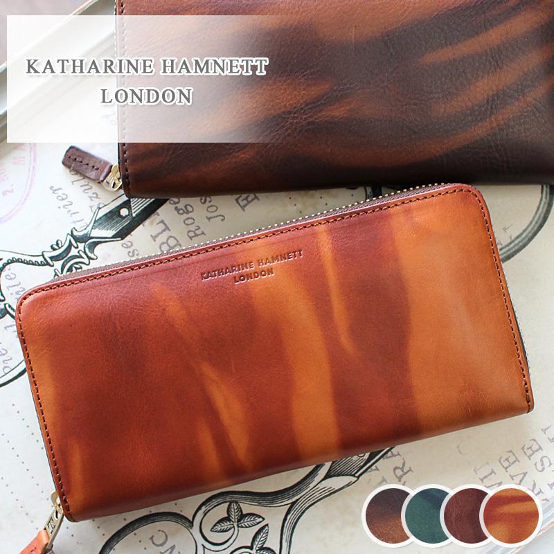 長財布 財布 490-59204 キャサリンハムネット KATHARINE HAMNETT LONDON ラウンドファスナーFLUID フルード