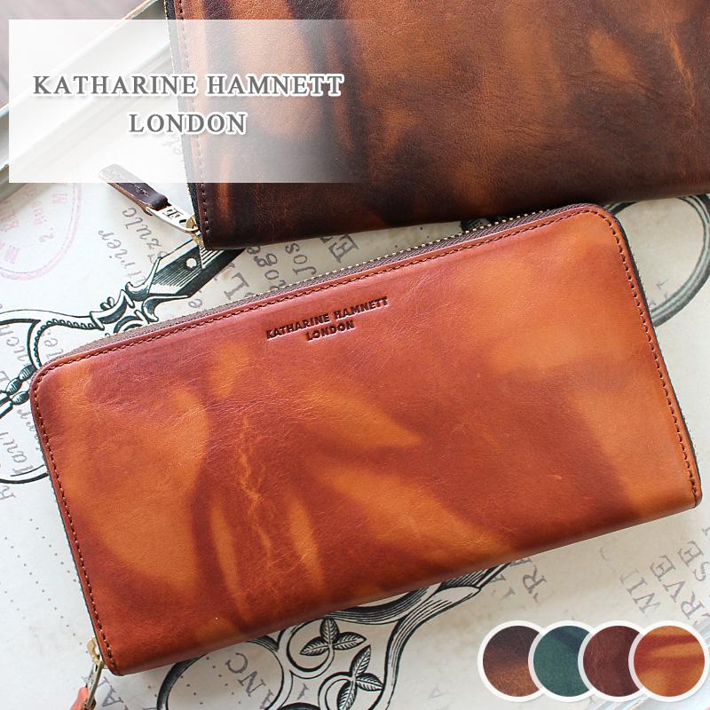 長財布 財布 490-59205 キャサリンハムネット KATHARINE HAMNETT LONDON ラウンドファスナーFLUID フルード