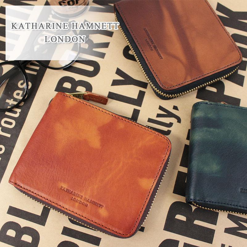キャサリンハムネット KATHARINE HAMNETT LONDON ラウンドファスナー二つ折り財布 財布 FLUID フルード 490-59209