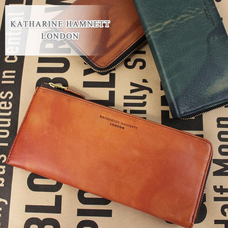 キャサリンハムネット KATHARINE HAMNETT LONDON L字ファスナー長財布 財布 FLUID フルード 490-59210