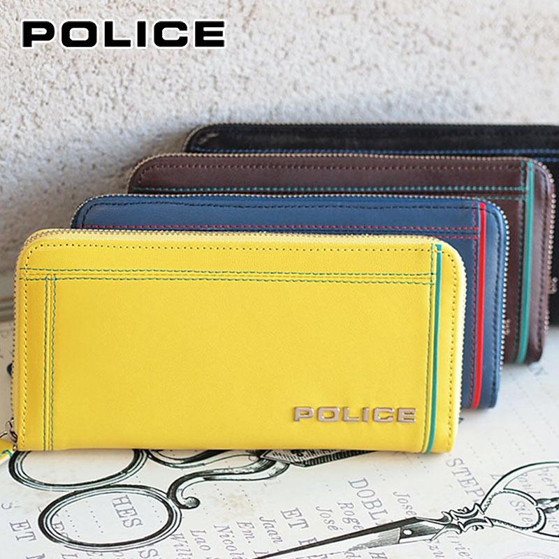 長財布 財布 0253/AP-58402 ポリス POLICE ラウンドファスナーColors カラーズ
