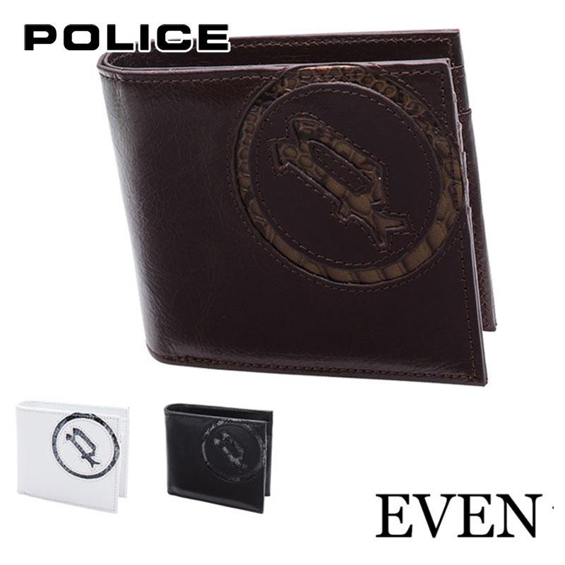 二つ折り財布 財布 0512/PA-5502 ポリス POLICE EVEN イーブンイタリアンレザー