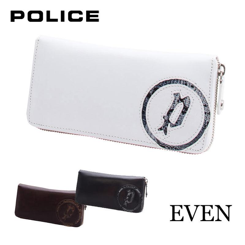 長財布 財布 0514/PA-5508 ポリス POLICE EVEN イーブン ラウンドファスナー イタリアンレザー