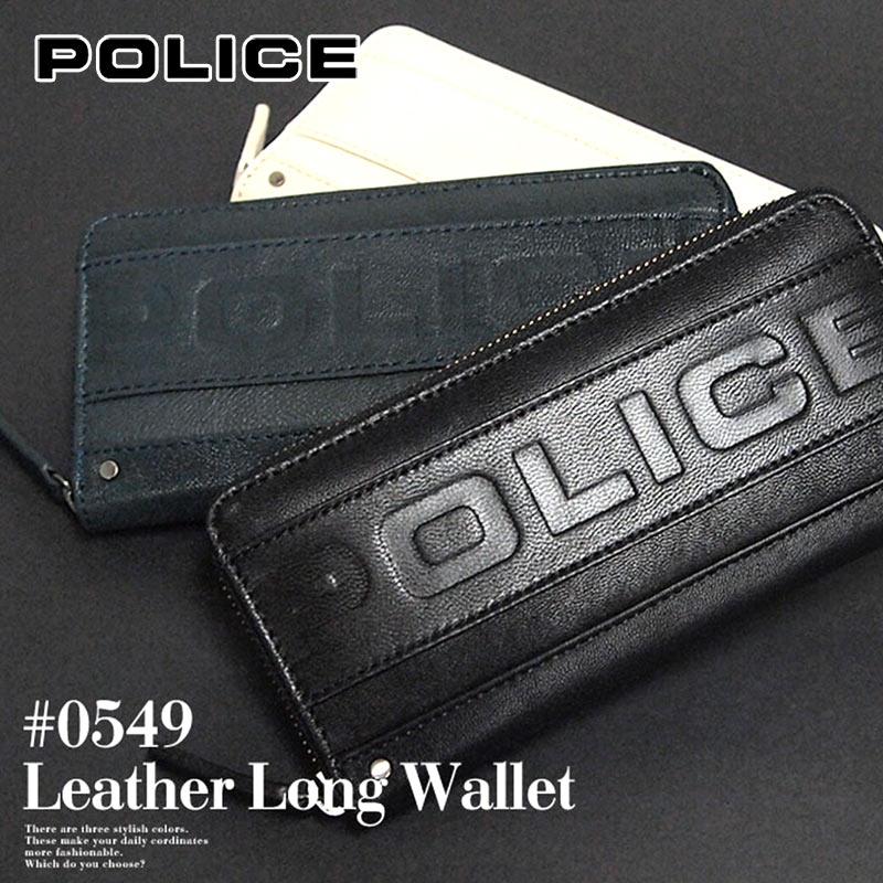 長財布 財布 0549/PA-58102 ポリス POLICE ラウンドファスナーMETRO メトロ