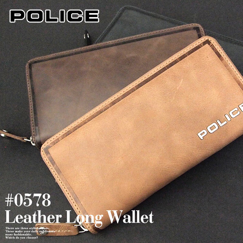 長財布 財布 0578/PA-58002 ポリス POLICE ラウンドファスナーEDGE エッジ