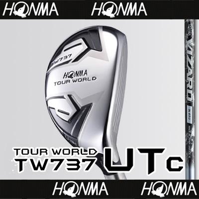 【■TW737/UTc(コンパクト)】【59%OFF】本間ゴルフ【日本仕様】TW737 UTc(コンパクト)ユーティリティVIZARD IN-Uカーボンシャフト【TOUR WORLD(ツアーワールド)】【2017年カタログ掲載モデル】