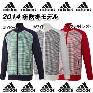 【14秋冬】【30%OFF】adidas(アディダス) JJH00 JP チェック柄 メンズ フルジップセーター