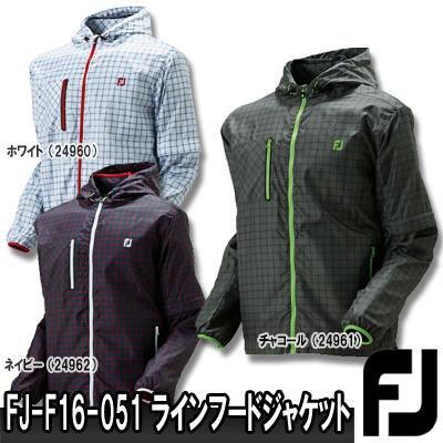 【16秋冬】FOOTJOY(フットジョイ)FJ-F16-O51 チェック柄 撥水 フルジップ ラインフード ジャケット