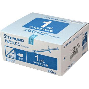 【送料無料】 TERUMO テルモシリンジ 1mL SS-01T 1ケース20箱(1箱100本入)(ツベルクリン用)
