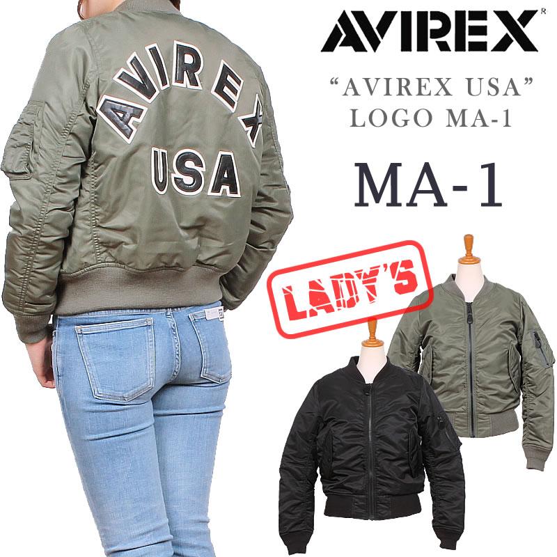 レディース MA-1(AVIREX USA ロゴ)AVIREX/アビレックス/アヴィレックス6252039_73_09アクス三信/AXS SANSHIN/サンシン