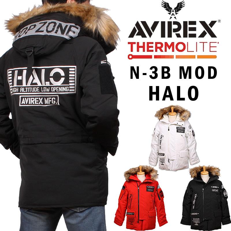 【SALE】AVIREX アビレックス N-3B MOD HALO フライトジャケットモディファイ ハロ アヴィレックス 6192170_01_44_09アクス三信/AXS SANSHIN/サンシン【¥39000(本体)+税】