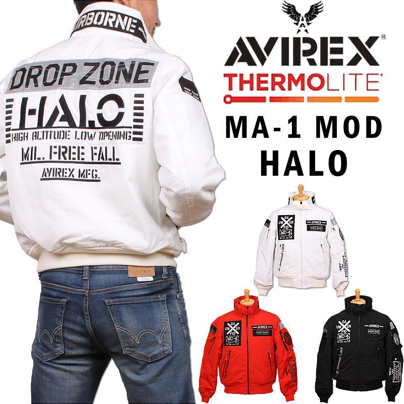 AVIREX アビレックス MA-1 MOD HALO フライトジャケットモディファイ ハロ アヴィレックス 6192176_01_44_09アクス三信/AXS SANSHIN/サンシン【¥26800(本体)+税】