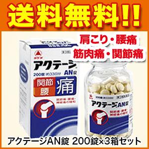 関節痛 アクテージAN錠 200錠×3箱セット 第3類医薬品 武田薬品 [肩こり 腰痛 筋肉痛 関節痛]p10