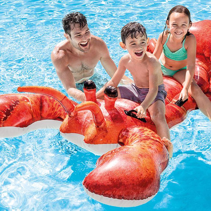 大注目マチガイなし 乗って楽しいロブスターフロート フロート ロブスターライドオン ビックフロート おもしろフロート ウォーターフロート 新作 うきわ 浮き輪 川遊び インテックス 送料無料限定セール中 KNS 海水浴 INT プール 送料無料 INTEX