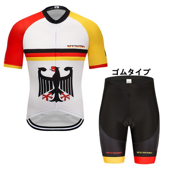 メンズ用 自転車 サイクルウェア スポーツウエア アウトドア ポケット付き 通気 吸汗速乾 2点セット ユニセックス 半袖 税込 自転車ウエア 大きいサイズ 上下セット サイクリングウェア 40%OFFの激安セール 暑さ対策 サイクルジャージ 夏物