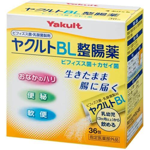 携帯に便利なスティック分包のビフィズス菌・乳酸菌製剤です。 ヤクルトBL整腸薬 36包(指定医薬部外品)(※サンプルサービス)