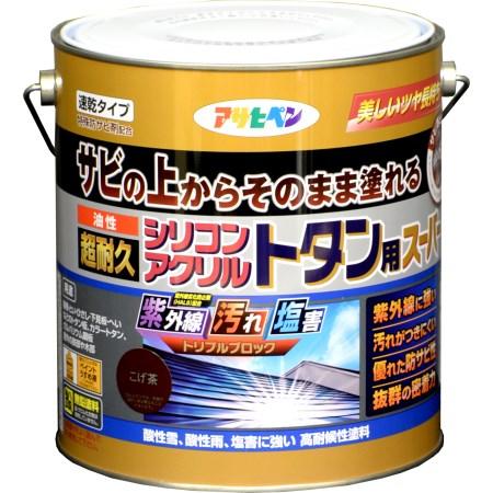 油性超耐久シリコンアクリルトタン用 3KG こげ茶