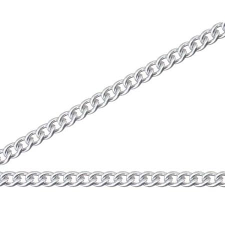 ニッサチェイン 銀色 アルミカラーチェン 30m AS18【ニッサチェイン チェーン 鎖】