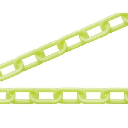 ニッサチェイン 黄 蛍光プラカラーチェン 100m PW80K(100)【ニッサチェイン チェーン 鎖】