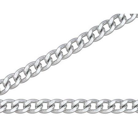 ニッサチェイン 銀 アルミ Fマンテル 15m巻 R-AS22F【ニッサチェイン チェーン 鎖】
