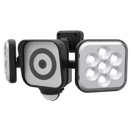ムサシ RITEX フリーアーム式LEDセンサーライト防犯カメラ(8W×2灯) 防雨型 C-AC8160【オーム電機 防犯 センサーライト】