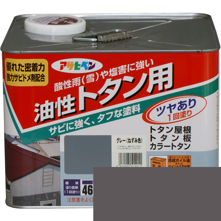 トタン用 7L グレー(ねずみ色)【アサヒペン 塗料 屋根 トタン】