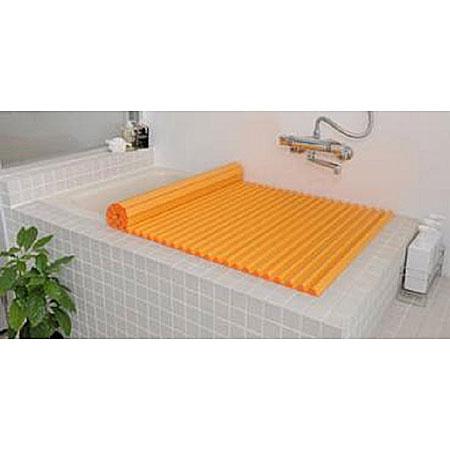 Agカラーイージーウェーブ風呂ふたL16(75×160.4cm)オレンジ(風呂蓋ふた蓋風呂フタ)