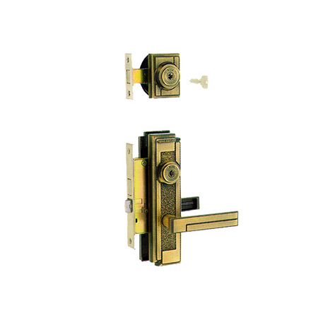 MIWA(美和ロック) 装飾錠・サムラッチ 玄関  タイプトステム(左右勝手あり) M-43