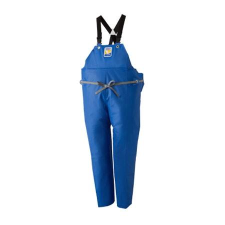 マリンエクセル 胸当付ズボン膝当て付(サスペンダー式) ブルー 4L