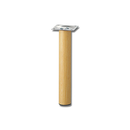 国産品 家具脚パーツ 補修部品すっきりデザインのテーブル脚 スマートレグ木製丸脚 シルバー 供え 32.8×200ミリ KSW-3320