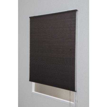 ハニカムシェード彩 幅180×180cm ブラウン