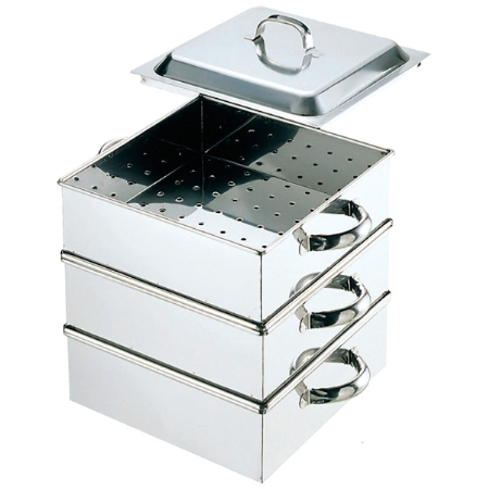 EBM業務用電磁角蒸器(レギュラータイプ)33cm2段