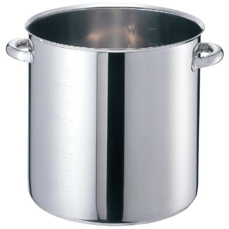 EBM モリブデンジ 寸胴鍋(目盛付)45cm 蓋無