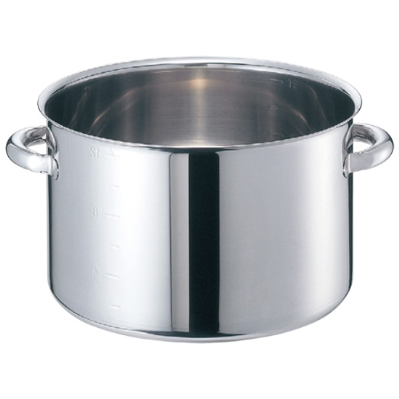 EBM モリブデンジ 半寸胴鍋(目盛付)30cm 蓋無