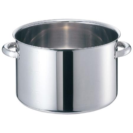 EBM モリブデンジ 半寸胴鍋(目盛付)42cm 蓋無