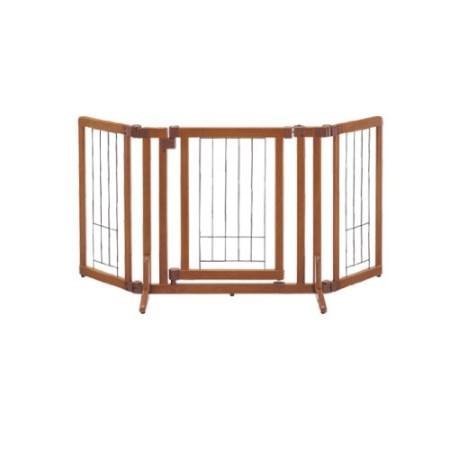 ペット用 木製おくだけドア付ゲート S ブラウン【リッチェル ペット ゲート フェンス】