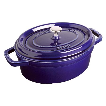 ストウブピコ・ココット楕円29cmグランブルー40510-288【ストウブ鍋ココット調理器具鋳物鋳鉄】