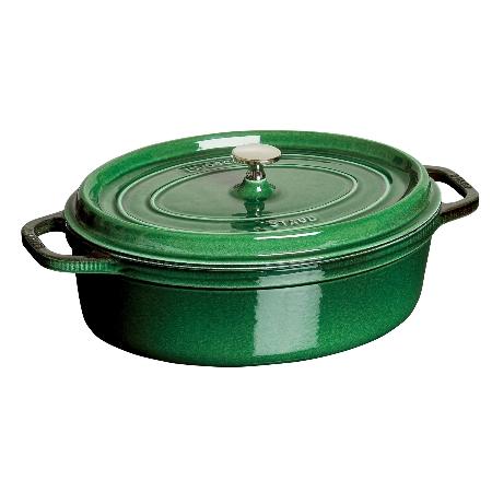 ストウブピコ・ココット楕円31cmバジル40509-365【ストウブ鍋ココット調理器具鋳物鋳鉄】