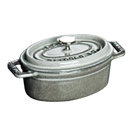 ストウブピコ・ココット楕円33cmグレー40509-324【ストウブ鍋ココット調理器具鋳物鋳鉄】