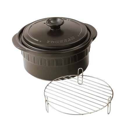 IH ニュートーセラム鍋 26cm TSR-190AM-B ブラック【トーセラム 鍋 IH 調理器具】