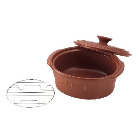 IHニュートーセラム鍋オーバルTSR-190-OPM-Sセピア【トーセラム鍋IH調理器具】