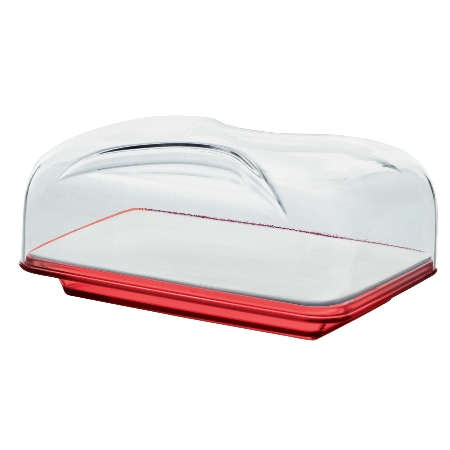 グッチーニ カッティングボード&ドーム 長方形(S)270100 65レッド【guzzini ケーキ サーバー フタ カバー テーブルウェア】