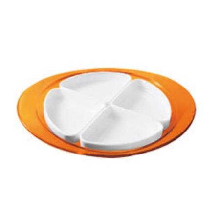グッチーニ フィーリング オードブルディッシュ 229100 45オレンジ【guzzini 皿 食器 小分け オードブル テーブルウェア】