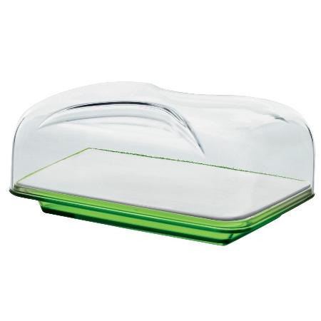 グッチーニ カッティングボード&ドーム 長方形(S)270100 44グリーン【guzzini ケーキ サーバー フタ カバー テーブルウェア】
