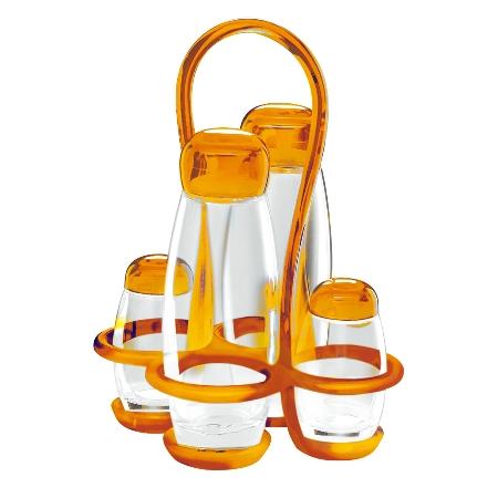 グッチーニ ボリー クルエセット 231300 45オレンジ【guzzini 調味料 スパイス 調味料ケース 調味料ボトル スパイスラック テーブルウェア】