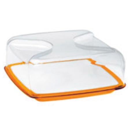 グッチーニ カッティングボード&ドーム 正方形(L)270000 45オレンジ【guzzini ケーキ サーバー フタ カバー テーブルウェア】