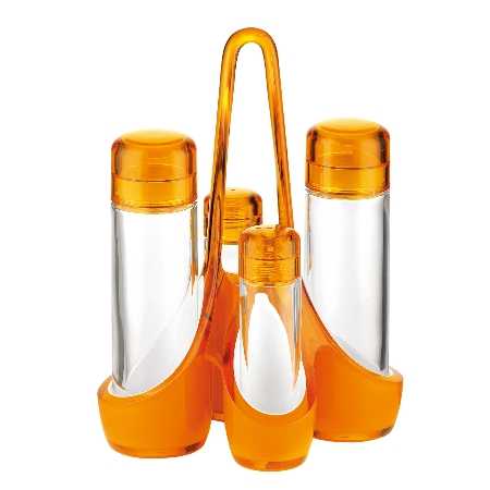 グッチーニ ミラージュ クルエセット 248800 45オレンジ【guzzini 調味料 スパイス 調味料ケース 調味料ボトル スパイスラック テーブルウェア】