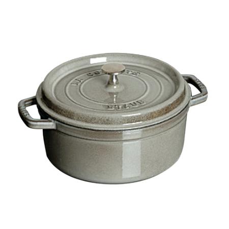 ストウブピコ・ココット丸20cmグレー40509-304【ストウブ鍋ココット調理器具鋳物鋳鉄】